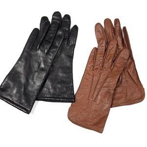 Vintage Leather Short Wrist Gloves
